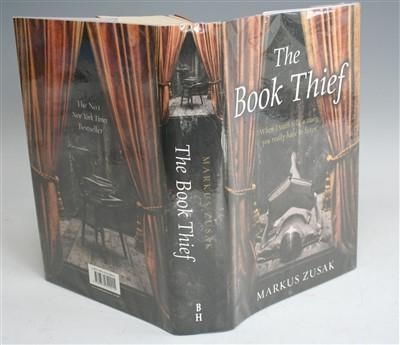Lot 2009-ZUSAK, Mark, The Book Thief (2 copies). Copy 1 ....