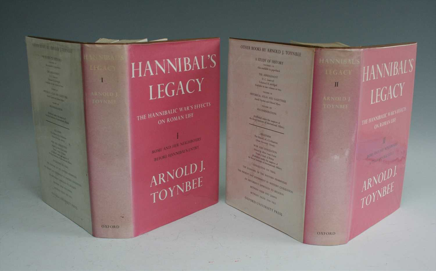 Lot 2011-TOYNBEE, Arnold J. Hannibal's Legacy. OUP, London,...