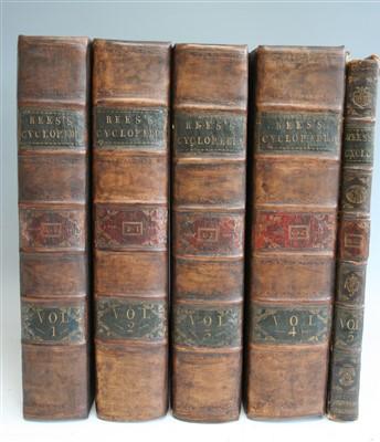 Lot 2016-CHAMBERS, Ephraim & REES Abraham. Cyclopaedia: or ...
