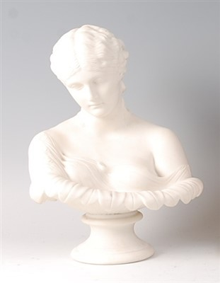 Lot 2034-A late Victorian parian bust of a maiden with...