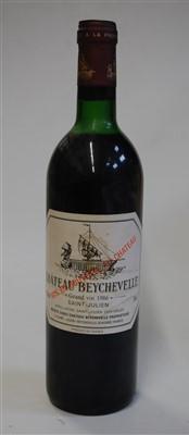 Lot 1053-Château Beychevelle, 1986, Saint Julien, one...