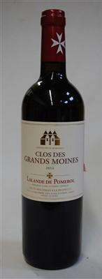 Lot 1058-Clos des Grands Moines, 2014, Lalande de...