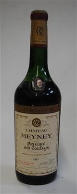 Lot 1064-Château Meyney, 1961, Saint-Estephe, one bottle