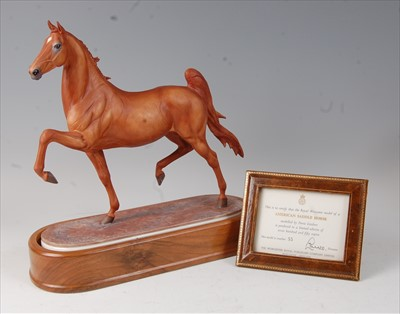 Lot 2038-A Royal Worcester model of an American saddle...