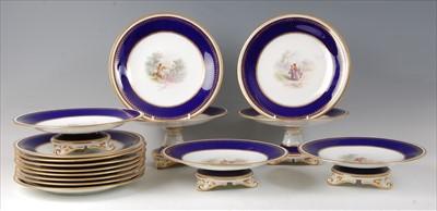 Lot 2046-A 19th century porcelain dessert service,...