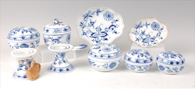 Lot 2033-A collection of mid-19th century Meissen...
