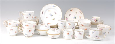 Lot 2032-Circa 1900 Meissen porcelain tea and coffee wares,...