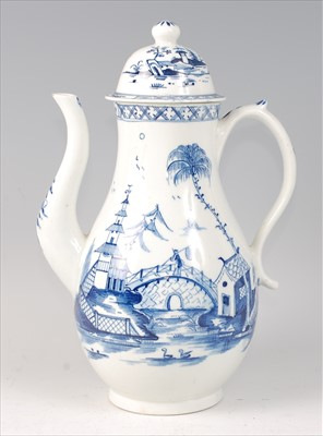 Lot 2048-A Lowestoft porcelain coffee pot and cover, circa ...