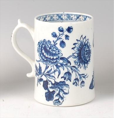 Lot 2050-A Lowestoft porcelain mug, circa 1770, underglaze ...
