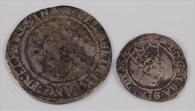 Lot 21-England, 1570 sixpence