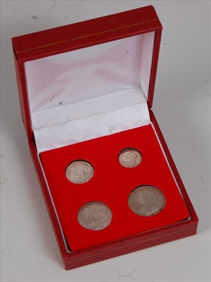Lot 31-Great Britain, 1901 Maundy Money four coin set