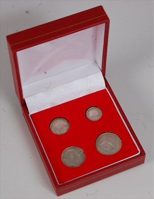 Lot 32-Great Britain, 1906 Maundy Money four coin set