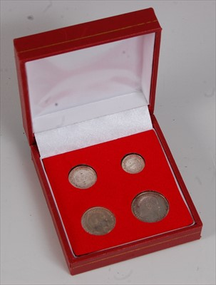 Lot 33-Great Britain, 1908 Maundy Money four coin set