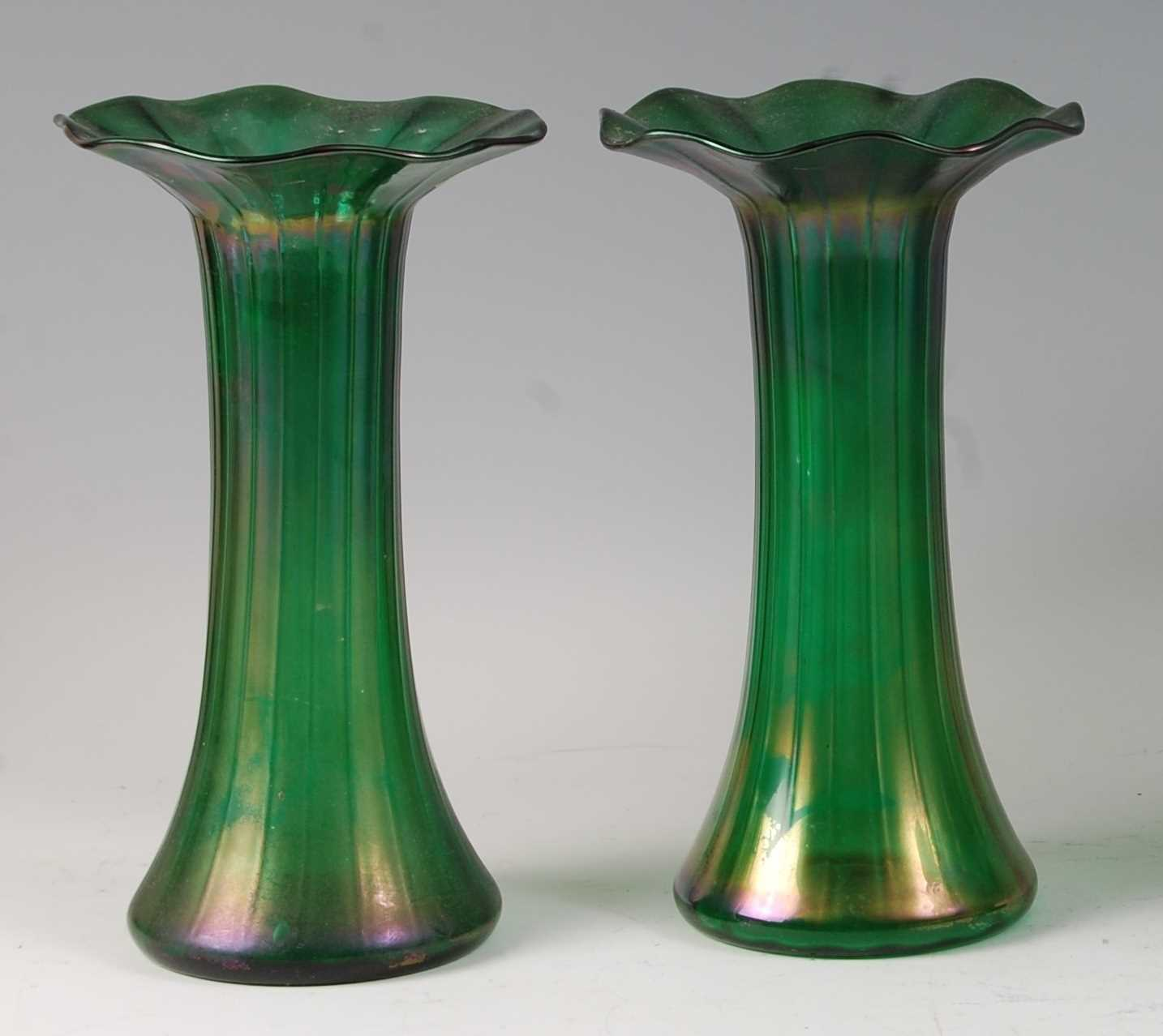 Lot 48-A pair of early 20th century Loetz style...