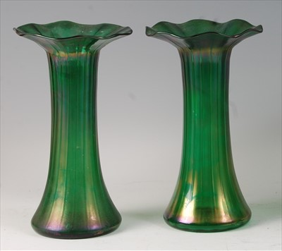 Lot 48 - A pair of early 20th century Loetz style...