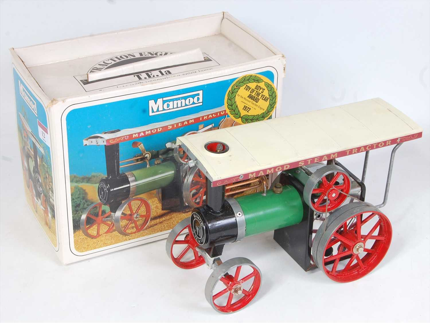 Lot 12-A Mamod TE1A live steam traction engine of usual...