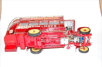 Lot 14-A home-made wooden, metal and brass scale model...