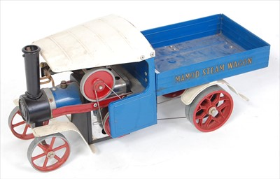 Lot 24-A Mamod SW1 steam wagon comprising blue &...