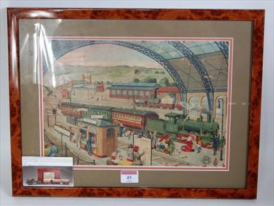 Lot 45-Bing, Nuremberg C1900 box lid illustration in...