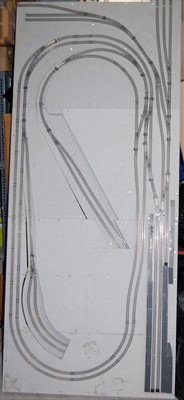 Lot 39-A professionally made wooden based N gauge layout ...