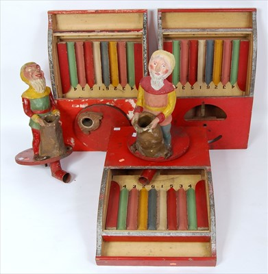 Lot 43-A collection of 1940s wooden and papier mache...