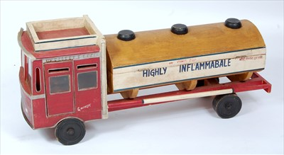 Lot 44-A wooden home made model of Bharat Transport & Co ...