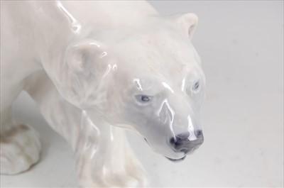 Lot 26-Royal Copenhagen - a porcelain model of a Polar...