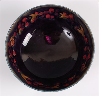 Lot 17-A circa 1930s Moorcroft pottery circular fruit...