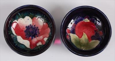 Lot 18-A near-pair of Moorcroft pottery circular...