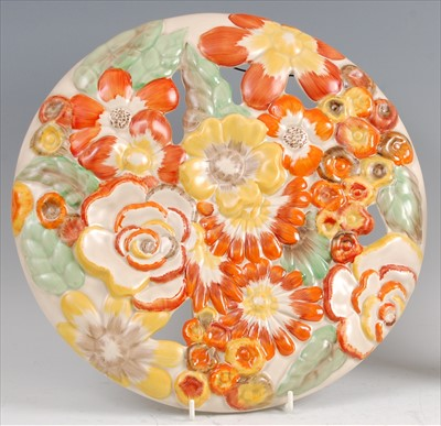 Lot 37-A 1930s Clarice Cliff pottery circular wall...