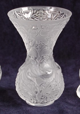 Lot 56-A contemporary Lalique frosted and moulded glass...