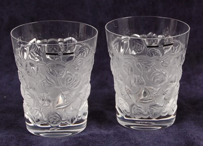 Lot 58-A pair of contemporary Lalique frosted and...