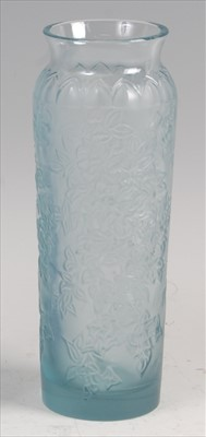 Lot 61-A contemporary Lalique frosted and moulded blue...