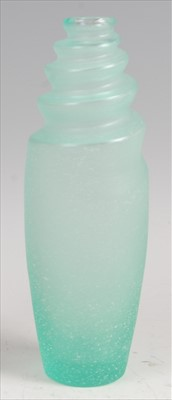 Lot 63-A contemporary Lalique frosted and moulded green...