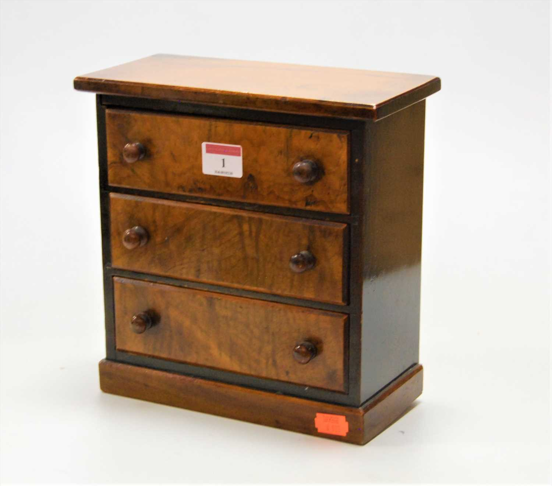 Lot 1-An early 20th century walnut apprentice piece...