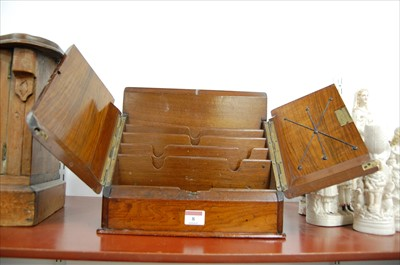 Lot 8-A Victorian walnut stationery cabinet, the hinged ...
