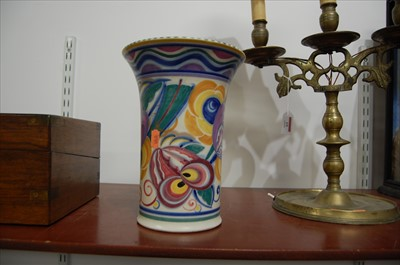 Lot 18-A Poole Pottery vase, having flared rim to a...