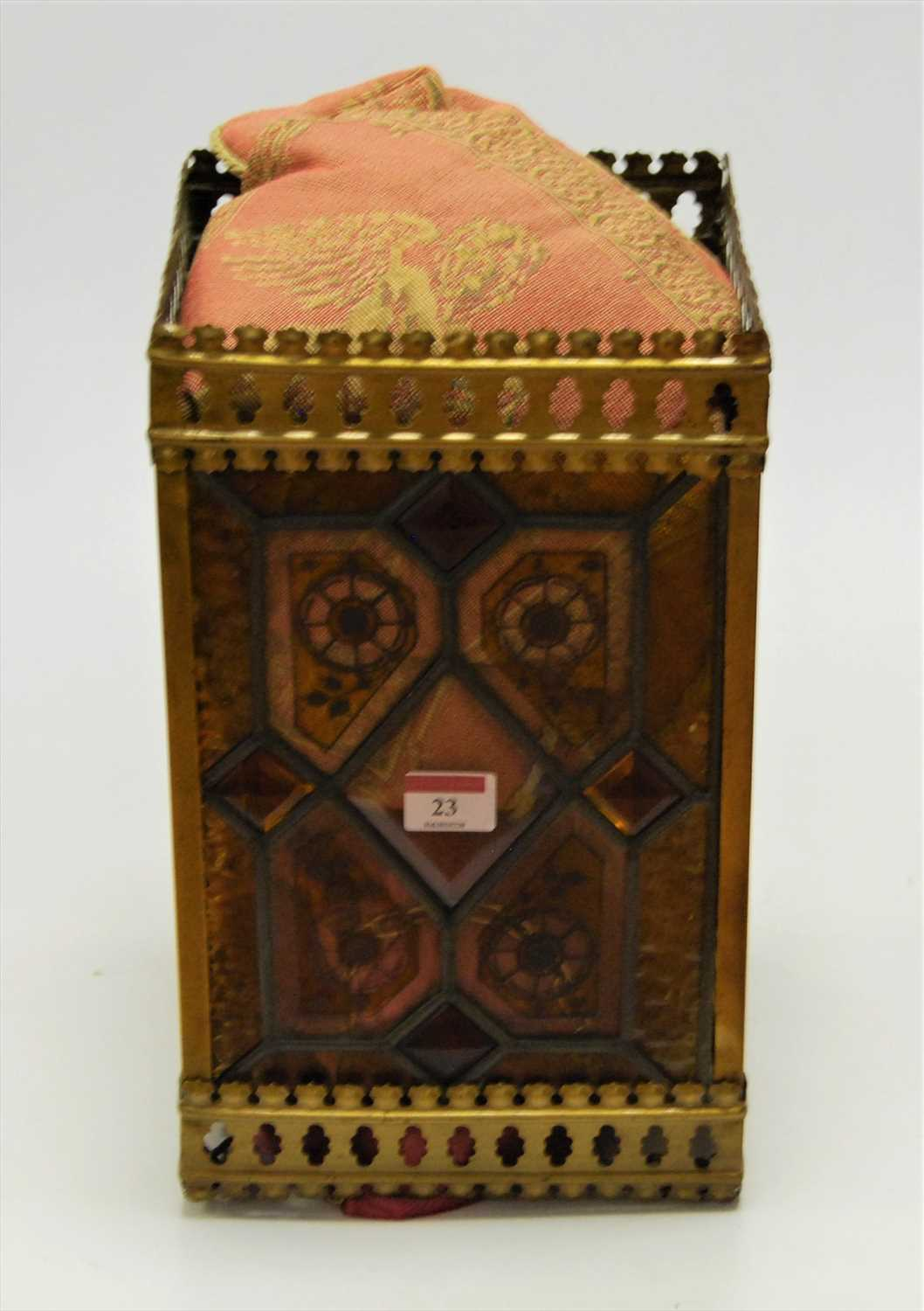 Lot 23-A circa 1900 lacquered brass ceiling light...