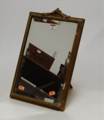 Lot 29-A 1950s easel dressing table mirror, the...