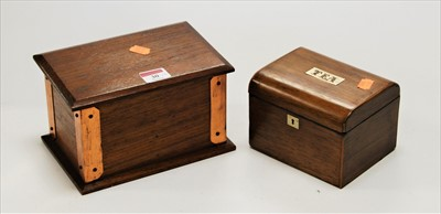 Lot 30-An early 20th century teak and copper bound...