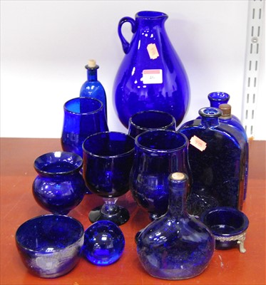 Lot 46-A collection of various Bristol Blue glassware,...
