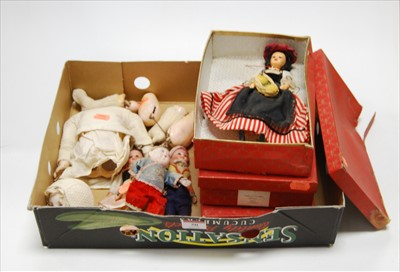 Lot 50-Three boxed Peggy Nisbet model dolls, National...