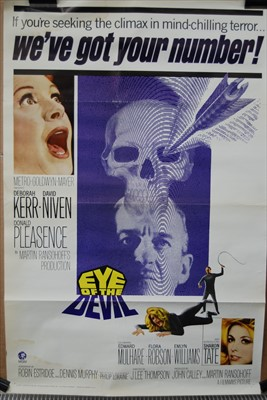 Lot 543-Eye of the Devil, 1966 one sheet poster