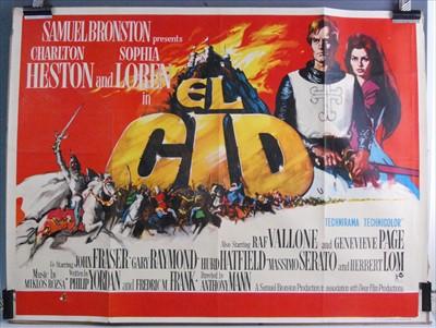 Lot 542-El Cid, 1961 UK quad poster