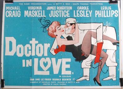 Lot 541-Dr in Love, 1960 UK quad poster