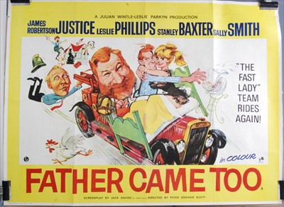 Lot 540-Father Came Too, 1964 UK quad poster