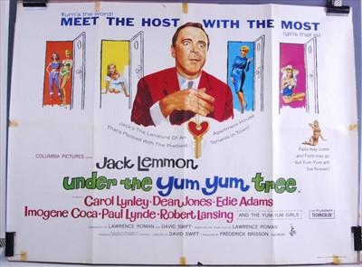 Lot 539-Under the Yum Yum Tree, 1963 UK quad poster