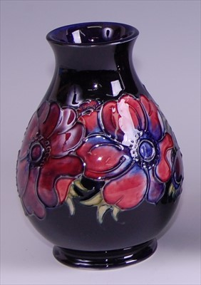 Lot 10-A contemporary Moorcroft pottery vase in the...
