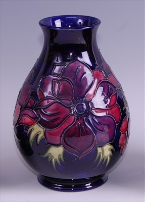 Lot 11-A contemporary Moorcroft pottery vase in the...