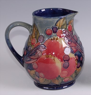 Lot 13-A contemporary Moorcroft pottery jug in the...